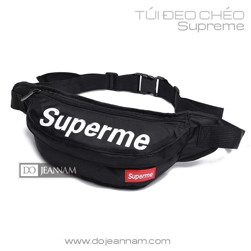 Túi đeo chéo Supreme đen