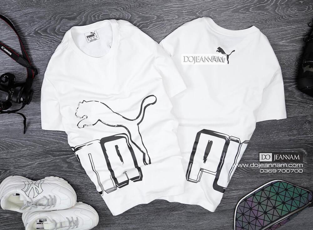 Áo phông nam Puma trắng 2019