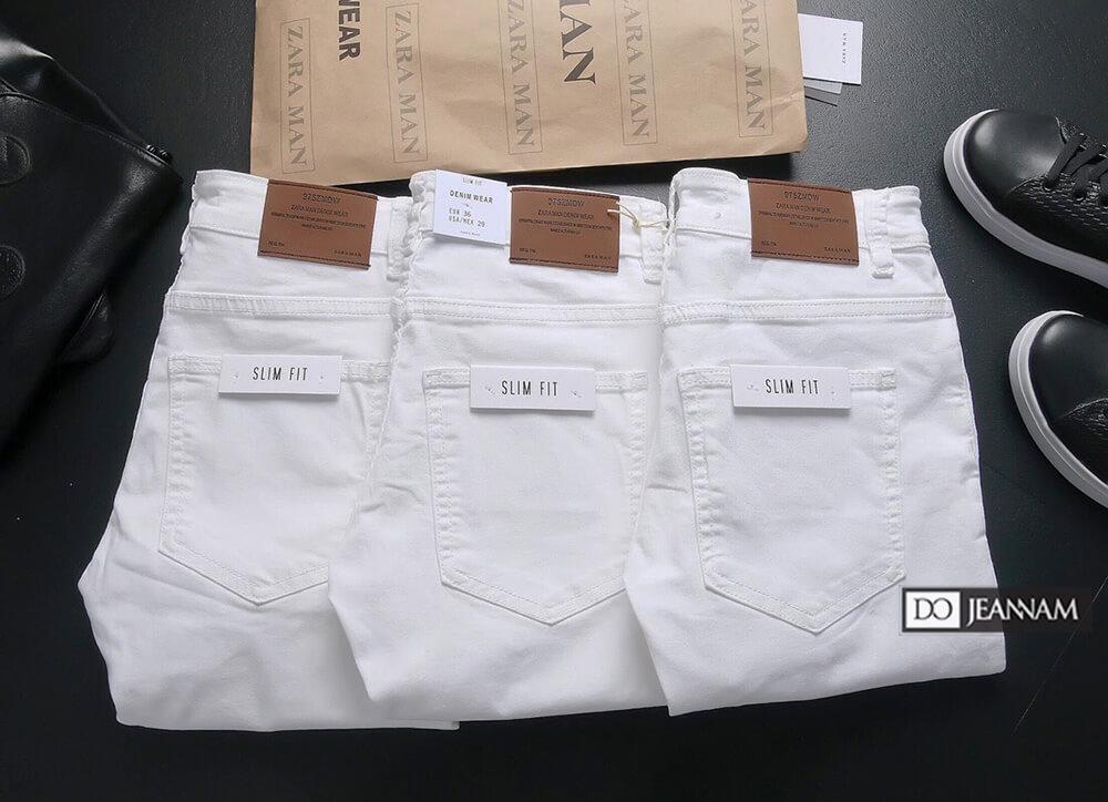 Quần jean nam trắng hiệu Zara